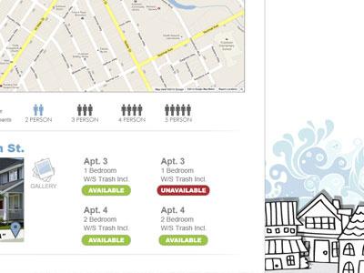 Dribbble 75 website real estate photoshop