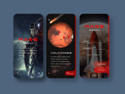 Travel to Mars UI APP #1