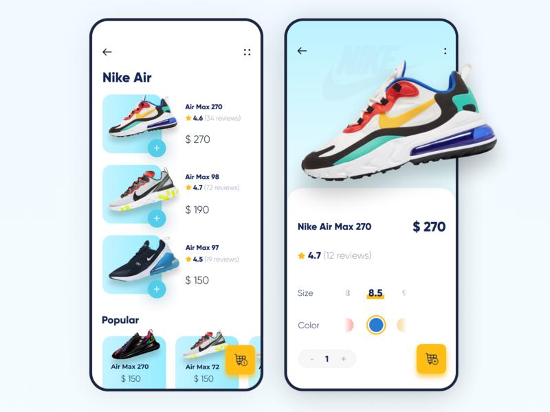 Sneaker shop app 👟👟👟 mobile app design app ux app ui iphone apple ios sneakers icon web element logo mobile app mobile ui ux app design