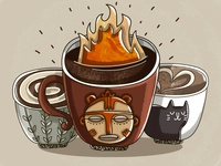 Fire coffee