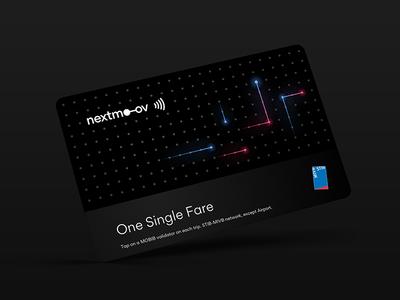nextmoov Branding : Business card concept business cards business card nextmoov black logo transport rfid card branding