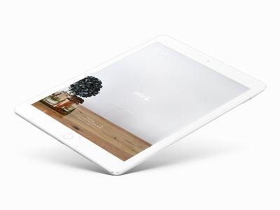mirā – iPad Showcase App landing page dwm heaj mira ipad web website ux ui design