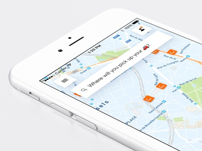 Cambio – New Mobile App navigation floating search menu map redesign cambio ux ui onboarding mobile app