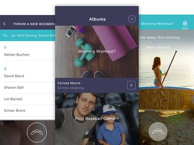 Throwapp group chat group photos photo sharing messenger album ios app camera branding ux ui