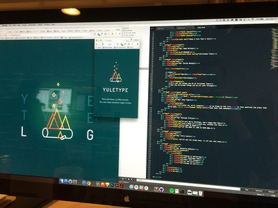 Yuletype yulelog christmas holiday code color experiment design typography