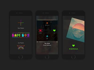Bambox pixel art music player design minimal brand ux ui music