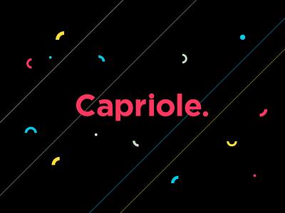 Capriole Brand biz card type elements logo mark identity color branding