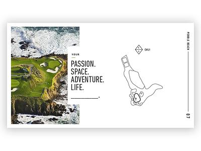 L+L Branding brand book print illustration white clean typography links golf branding brand