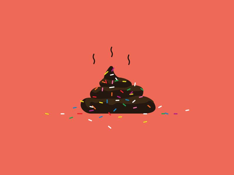 Sprinkles color lol funny donut smell illustration dog sprinkles poop