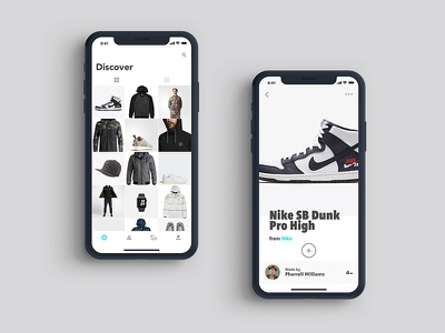 Makers App sneakers type minimal grid view ios fashion ux iphone x ui