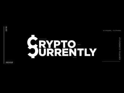 Crypto Currently Brand crypto currency wordmark podcast typography branding logo crypto