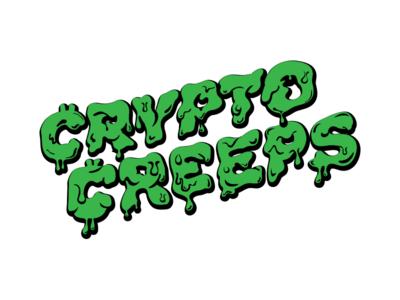 Crypto Creeps green lettering typography jim phillip illustration type crypto