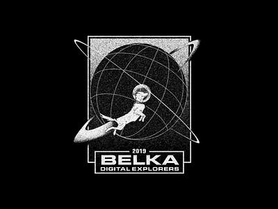 Belka: digital explorers — 2019 soviet russia planets globe illustration dog illustration dog rocket spaceship spaceman planet explorers program space russian belka