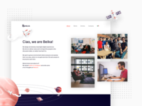 Belka brand new website: Team page