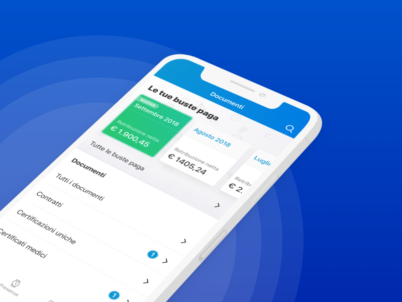 Dipendenti in Cloud app is out now! app design app leaves time off workplace human resource holidays payroll employee card dashboard app hr ui