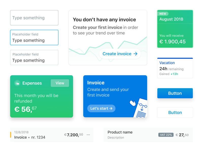 Invoicing design system staff employee hr payroll quotation purchase invoice design vacation expenses card dashboard ui tax invoice template invoicing invoice design system