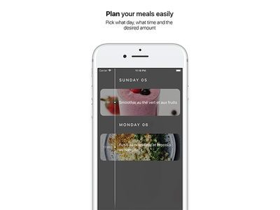 Chef for iOS — Timeline ux ui recipes motion iphone ios design cooking chef app