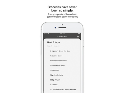 Chef for iOS — Groceries shopping list groceries ux ui recipes iphone ios design cooking chef app