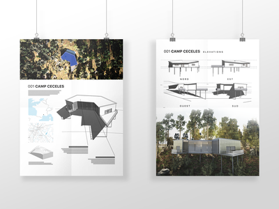 Camp Ceceles illustration communication architect study concept mockup poster architecture