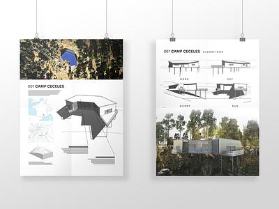 Camp Ceceles illustration communication architect study concept mockup poster architecture