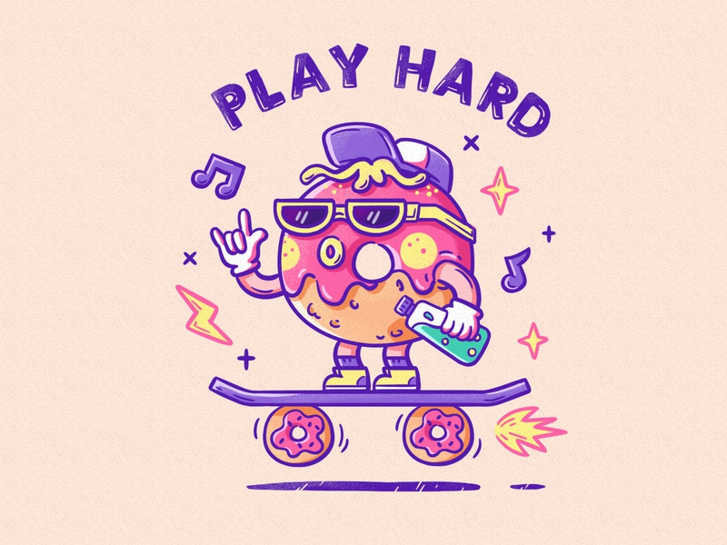 Play hard illustration