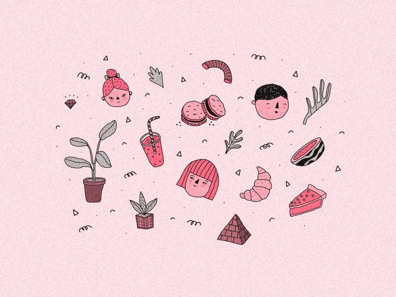 Designer's Mind cute design pink doodles illustration