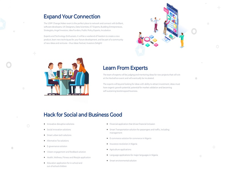 Expand Your Connection website webpage landing page landingpage landing web site design creative illustration typography concept branding