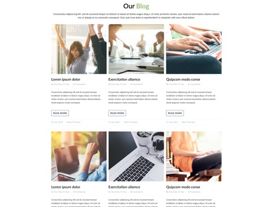 Our Blog Web Page Design