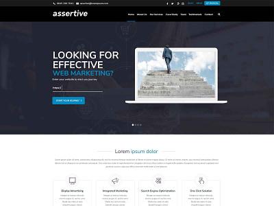 Assertive Web Design web landingpage landing page site typography webpage website illustration landing design creative concept branding