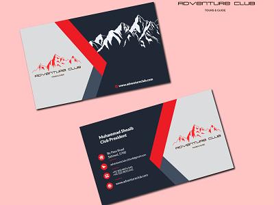 Adventure Club Business Card design branding business card