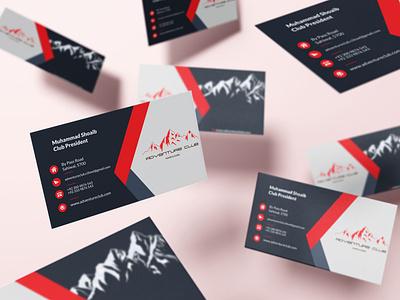 Adventure Club Business Cards Mockup business card mockup design branding