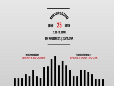 Event Flyer events banner design flyer design branding record label