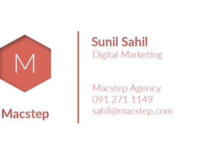 Sunil Business Card branding business card design