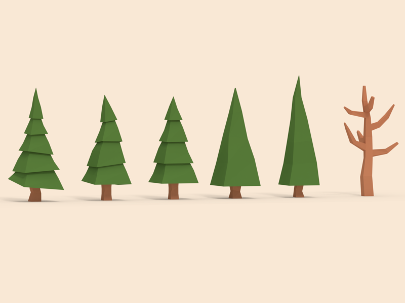 Low Poly Trees - Asset Pack buy asset assetpack blender3d trees lowpolyart lowpoly blender 3d art 3d