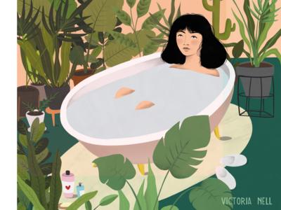 Swimming Among Plants