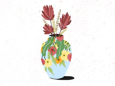 Spring Vase designs web book editorial design ipad pro art freelance illustrator adobe fresco flower illustration spring flower vase lifestyle illustration ipadpro illustration art illustration digital