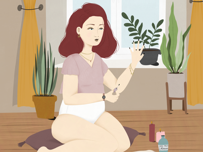Get ready to date yourself! body positive ginger self care girl woman artwork cartoon book illustration editorial art editorial illustration lifestyle illustration illustration art illustration digital