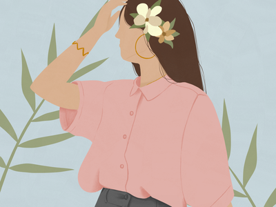 Fresh Air girl illustration jewelry girly girl character minimalism fashion illustration book illustration editorial illustration lifestyle illustration ipadpro illustration art illustration digital