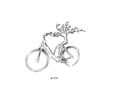 Ride comic style plant bike ride bicycle bike ride inktober2019 inktober painting black and white drawing ipadpro illustration art illustration digital