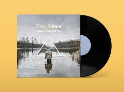 Trey Simon - Head Over Water - Single Cover branding design music art vinyl music album artwork album cover album art