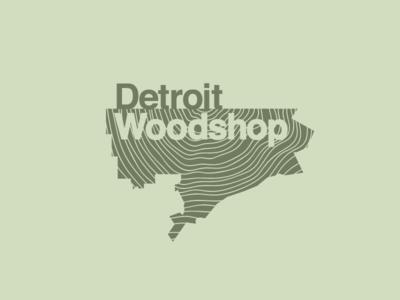 Detroit Woodshop Logo logo design logo woodshop detroit woodshop detroit