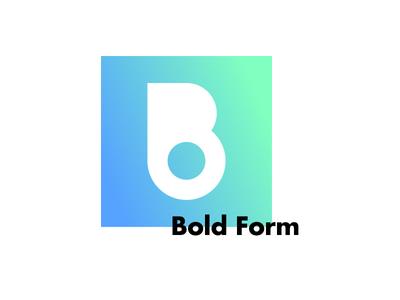 Boldform Logo Design studio design gradient modern bold logo design logo