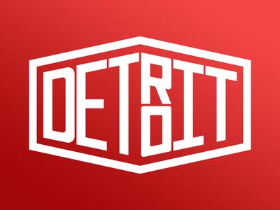 Detroit City Tag logo crisp simple gradient detroit sports city detroit red wings motor city city tag detroit