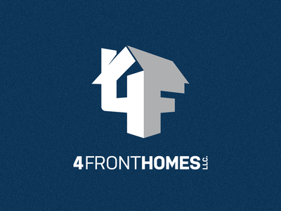 4 Front Homes Logo 4f small business real estate logo house realtor home realty