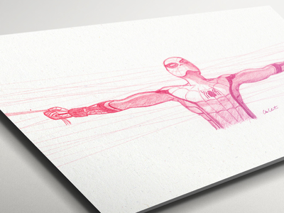 Spider-Man Homecoming Sketch peter parker freehand drawing sketch marvel spider-man