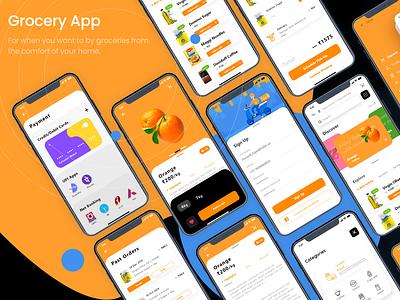 Grocery App fun grocery app grocery mobile app mobile app design mobile minimal ux ui flat design