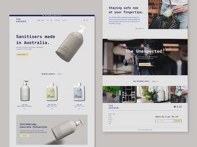 The Answer Store ui design branding landing page onlinestore ux minimal flat web redesign webdesign website