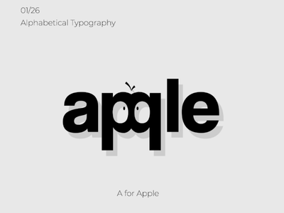 Typography - A for Apple typography