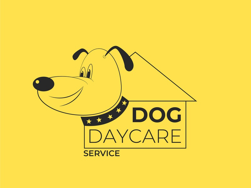 Dogcare Service daycare doggy logodesign illustration 30dayslogochallenge