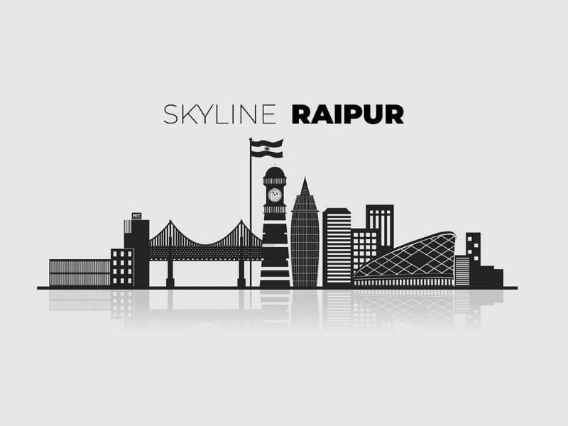 Skyline Raipur architecture raipur city graphics design illustrator chhattisgarh skyline
